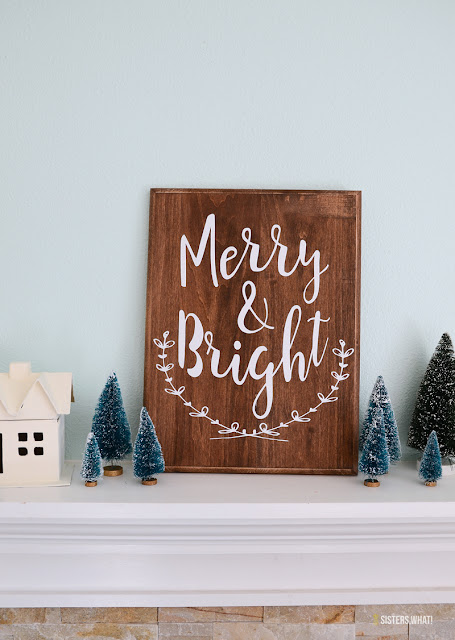 merry and bright diy christmas sign