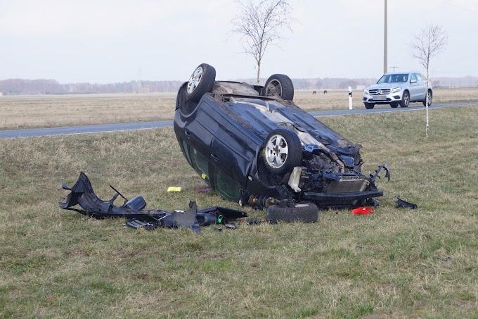Mehrfach überschlagen: Schwerer Unfall bei Reppichau
