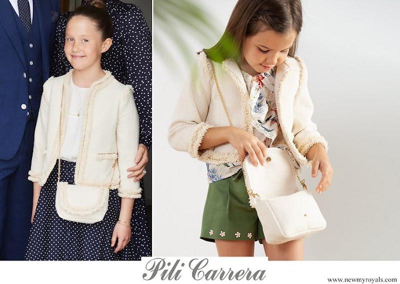 Princess Josephine wore Pili Carera tweed blazer