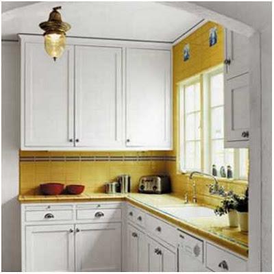 dapur minimalis ukuran 2x2 warna putih yang cantik