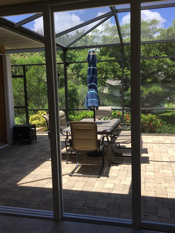 Clean sliding glass doors