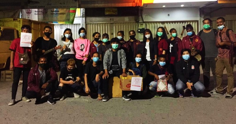 PMKRI Palembar Bersama Aliansi, Galang Dana Solidaritas Bagi Korban Bencana NTT