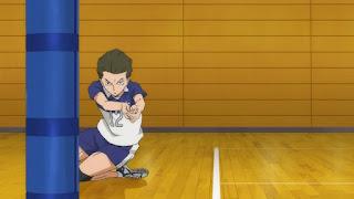 ハイキュー!! アニメ 2期12話   扇南リベロ 横手駿 Yokote Shun   HAIKYU!!  Ohgiminami high vs Karasuno