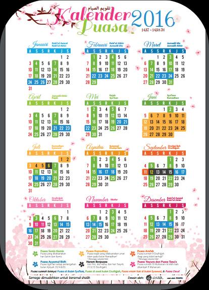 Download Gratis Kalender Bulan Puasa 1437H/Th 2016 Lengkap