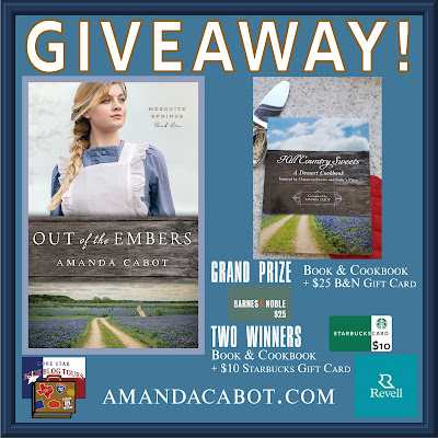 Out of the Embers tour giveaway graphic. Prized to be awarded precede this image in the post text.
