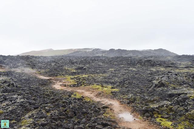 Campo de lava en Leirhnjukur, Islandia