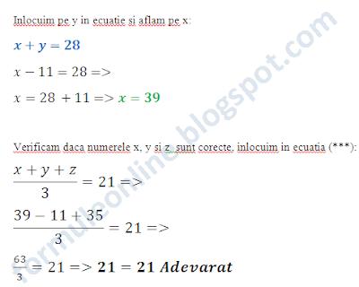 media aritmetica exercitii rezolvate