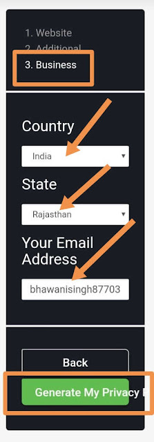 privacy policy page kaise banaye, privacy policy page for blogger/website