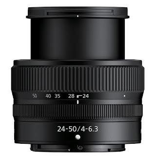 Объектив Nikon Nikkor Z 24-50mm f/4-6.3 в максимальных габаритах