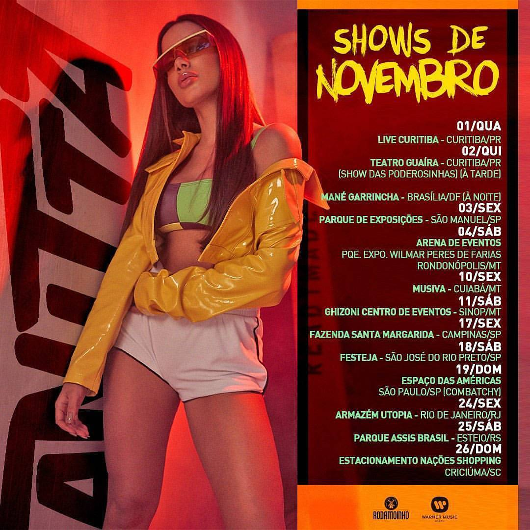 Agenda de Shows de Anitta