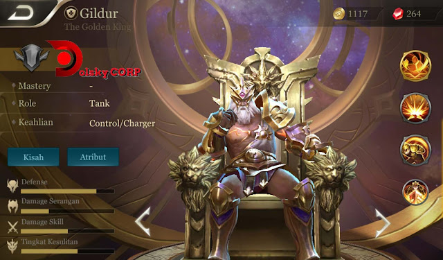 Arena of Valor : Hero Gildur ( The Golden King ) Full Tanker Builds Set up Gear