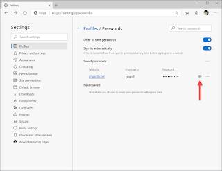 วิธีการดูรหัสผ่านที่บันทึกใน Microsoft Edge บน Windows 10 ขั้นตอนที่ 3