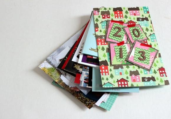 DIY Christmas Card Book for 2013's holiday season!