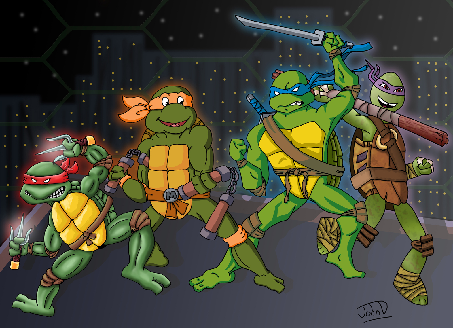 John D Anims Teenage Mutant Ninja Turtles Evolution
