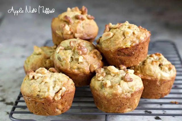 Delicious apple nuts muffins recipe makes at home