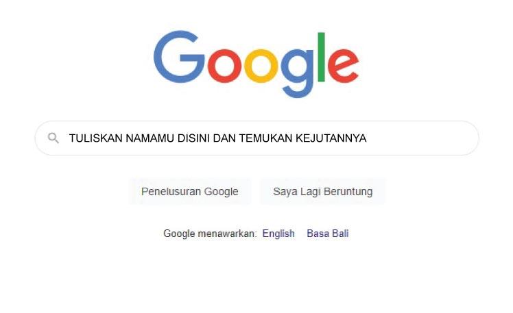Ketika Kuketik Namaku Di Google Search, Inilah Yang Terjadi
