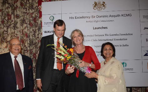 British High Commissioner launches The Loomba Foundation's Project with Lions Club International to Empower 2600 Widows in Vrindavan