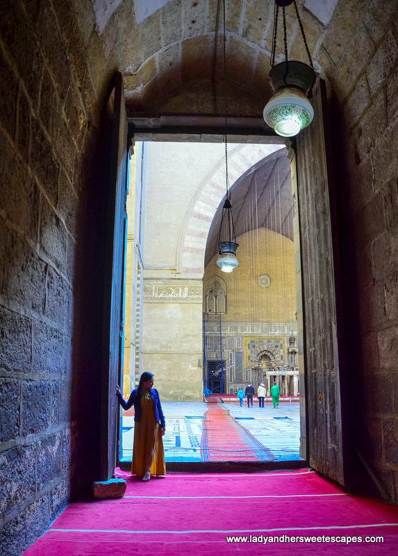 Inside Madrassa El Sultan Hassan