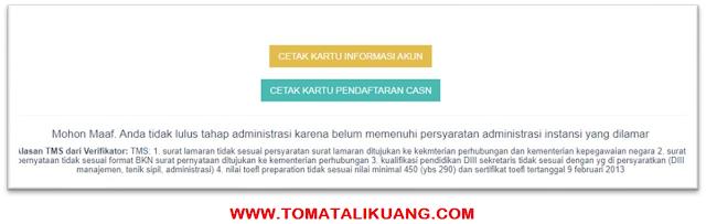 tidak lolos seleksi administrasi cpns tahun 2021 tomatalikuang.com