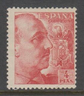 Spain - 1949, 4p General Franco stamp