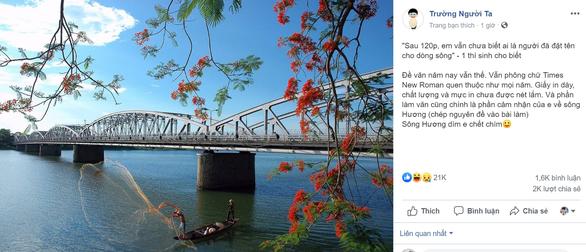 Đề Thi Ngữ Văn THPT Quốc Gia 2019: Ai Đã Đặt Tên Cho Dòng Sông?