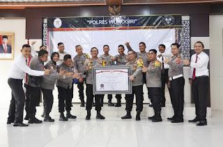 Predikat Wilayah Bebas Korupsi WBK Diraih Polres Wonogiri 2020