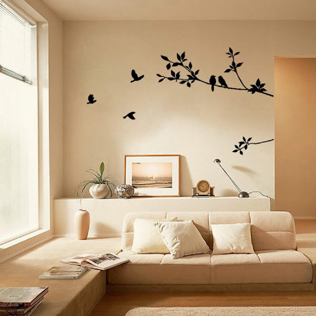 Wall Stickers, Iuhan Tree Branch Black Bird Art Wall Stickers Removable