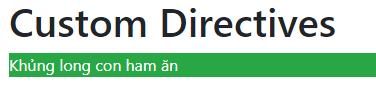 Angular: Sử dụng Directive