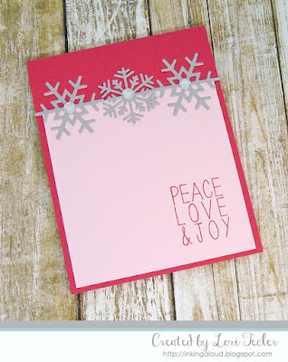 Peace Love & Joy card-designed by Lori Tecler/Inking Aloud-stamps from Reverse Confetti