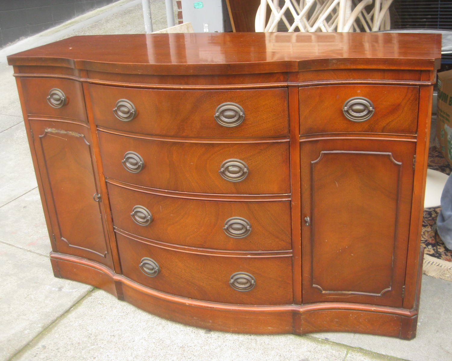 Uhuru Furniture Collectibles Sold Duncan Phyfe Sideboard 200