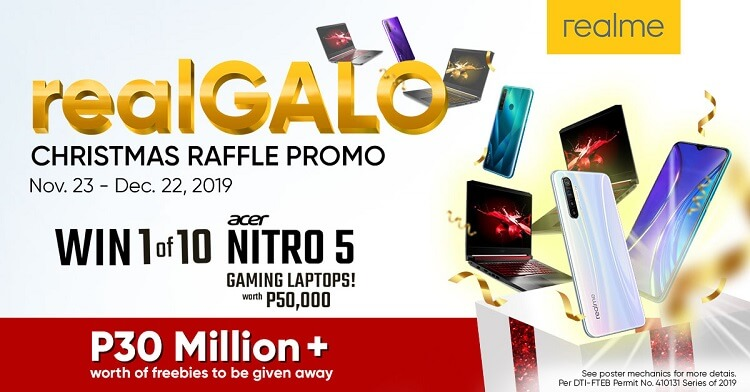 Realme Launches #realGALO Christmas Raffle Promo