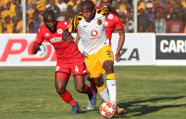 Lebogang Manyama against Highlands Park earlier this season.