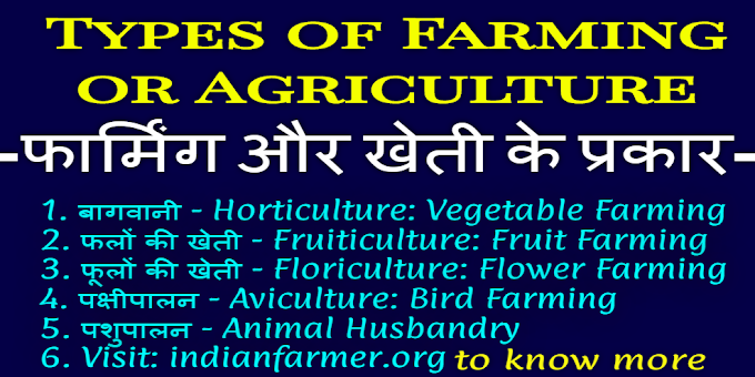 Different Types of Farming or Agriculture: फार्मिंग, खेती के प्रकार