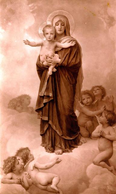 Адольф Вильям Бугро - Богородица с ангелами