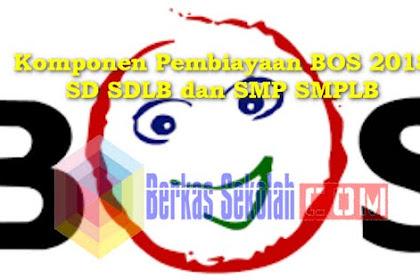 Komponen Pembiayaan BOS 2018 SD SDLB dan SMP SMPLB