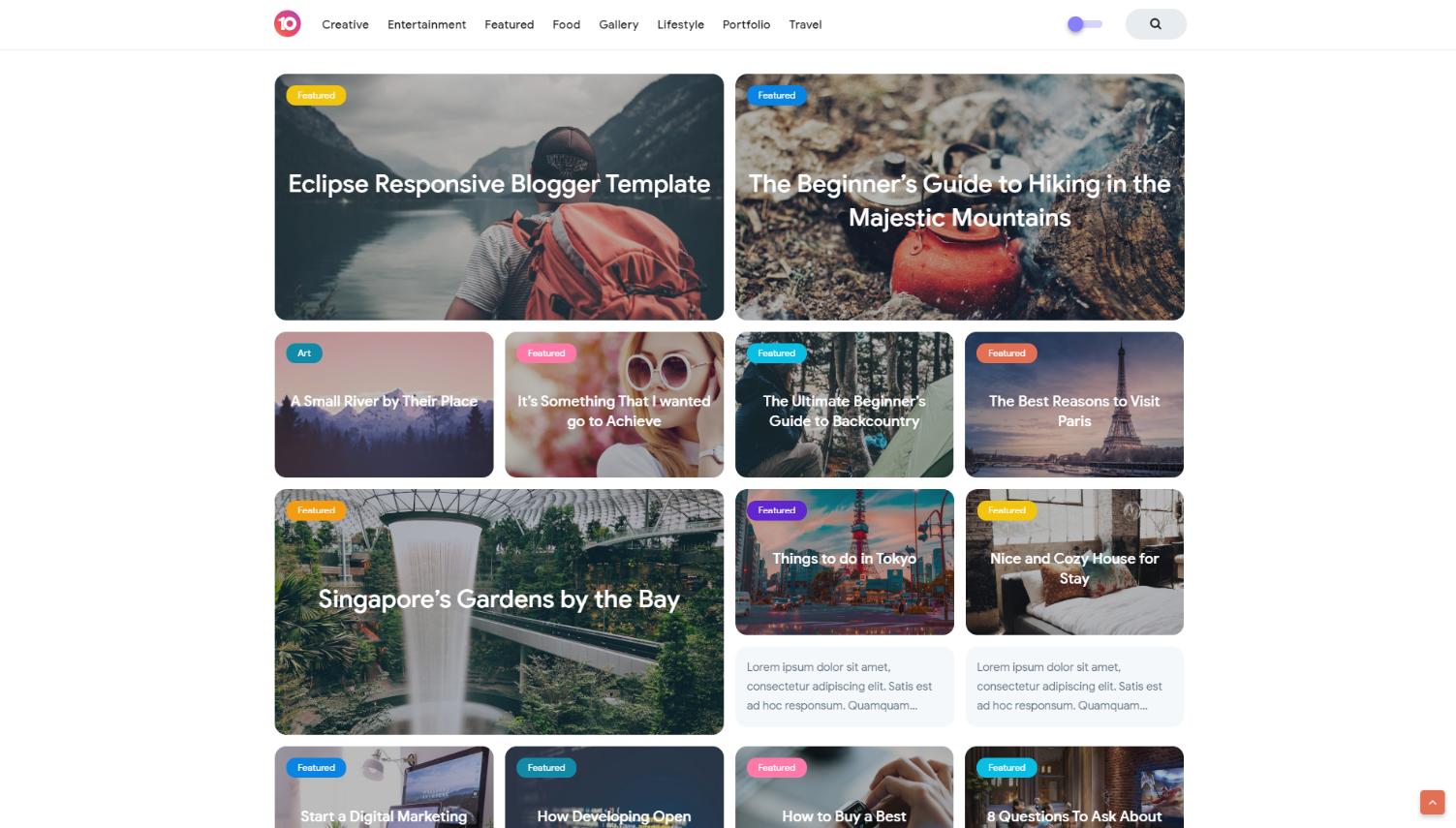 Eclipse V3 Premium Responsive Blogger Template [Free]