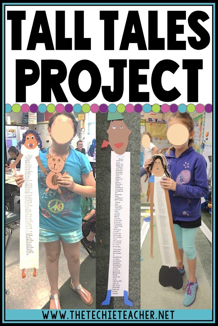 One of my favorite ways to wrap up a tall tales genre unit is having students write their own tall tale and publishing their stories as TALL creations. Come grab a free Google Docs template for students to type their stories.