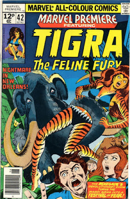 Marvel Premiere #42, Tigra vs a mammoth