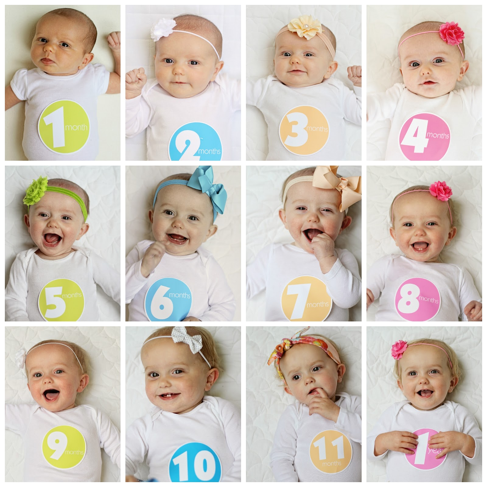 12 Month Photo Collage Kraft Brown 12 Month First Year Boy Girl