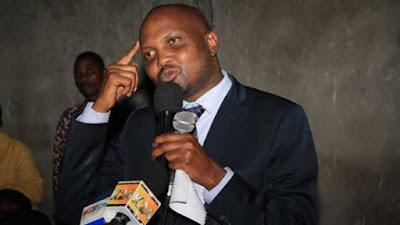 """Moses Kuria speaking in Nairobi over """"Night"""" allowances."""