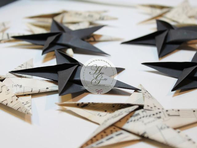 Origamistern aus Tonpapier oder alten Musiknoten ganz leicht selber falten