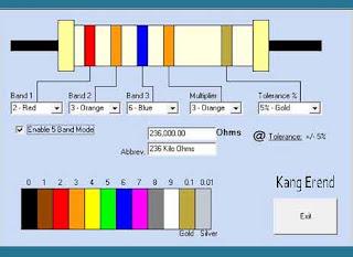 Kalkulator Untuk Menghitung Kode Resistor