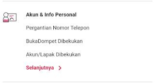 akun & info personal