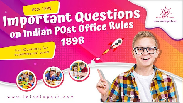 Important Questions on Indian Post Office Rules 1898