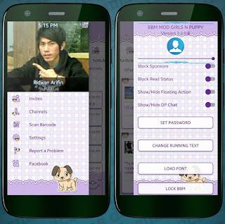 BBM Mod Girl n Puppy V3.2.0.6 Apk