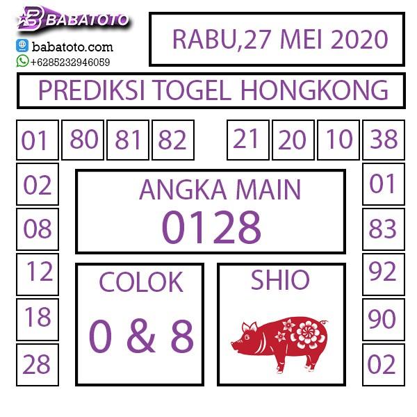 Prediksi Togel Hongkong Rabu 27 Mei 2020 - Babatoto