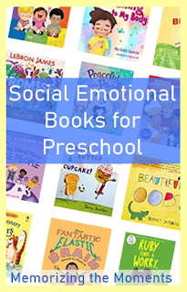 Preschool and early elementary books for social emotional skills like mindfulness, feelings, emotions, manners, kindness, friendship and being yourself.