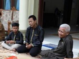 Plt Bupati Asahan Surya di acara halal bi halal.