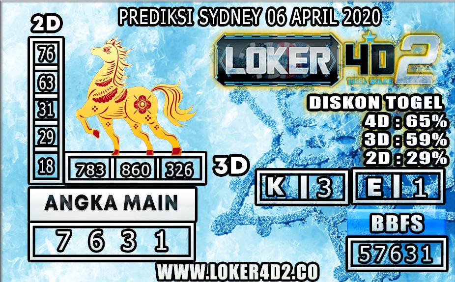 PREDIKSI TOGEL SYDNEY LOKER4D2 06 APRIL 2020