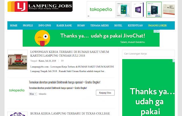 Lampung Jobs - Lowongan Kerja